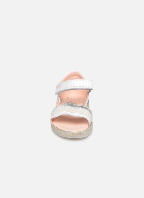 Sandales et nu-pieds Pablosky Alessandra Blanc vue portées chaussures