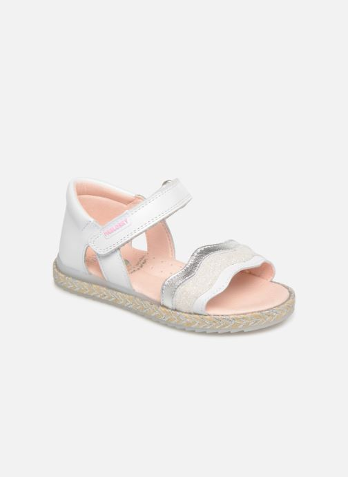 Sandals Pablosky Alessandra White detailed view/ Pair view
