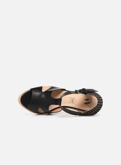 Scarpe di corda Vanessa Wu SD1270 Nero immagine sinistra