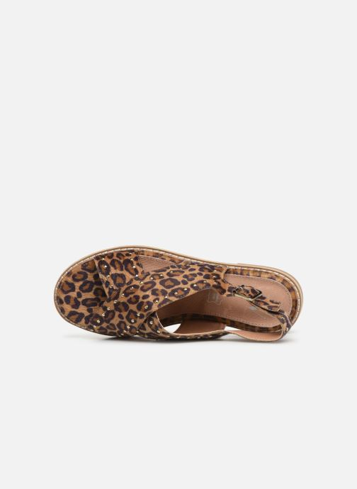 Sandales et nu-pieds Vanessa Wu SD1898 Marron vue gauche