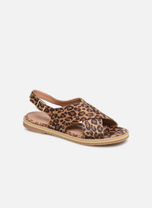 Sandals Vanessa Wu SD1898 Brown detailed view/ Pair view