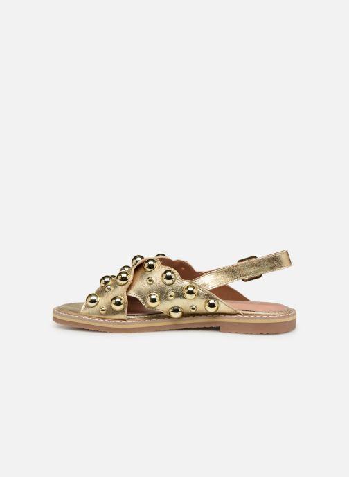 Sandales et nu-pieds Vanessa Wu SD1899 Or et bronze vue face