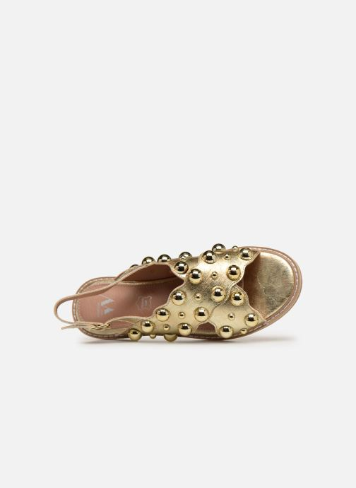 Sandales et nu-pieds Vanessa Wu SD1899 Or et bronze vue gauche