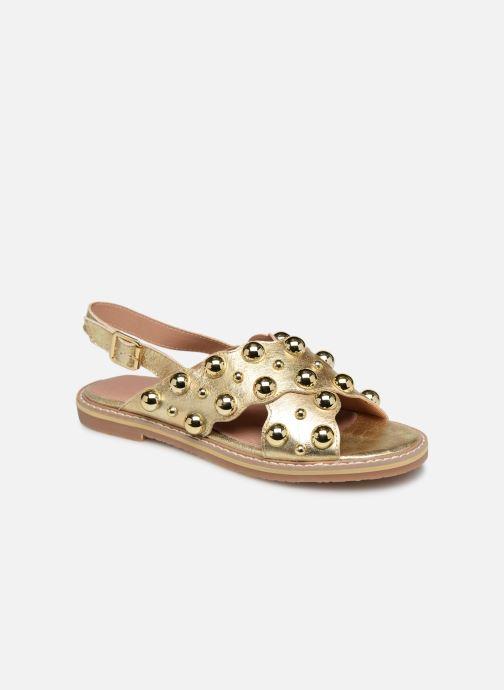 Sandales et nu-pieds Vanessa Wu SD1899 Or et bronze vue détail/paire