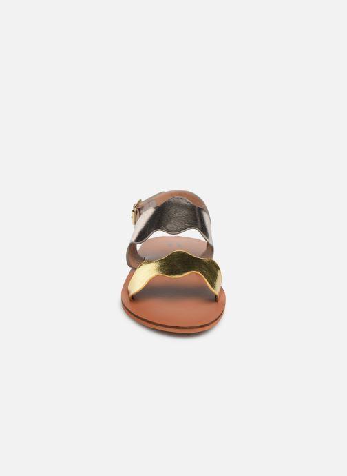 Sandales et nu-pieds Vanessa Wu SD1903 Or et bronze vue portées chaussures