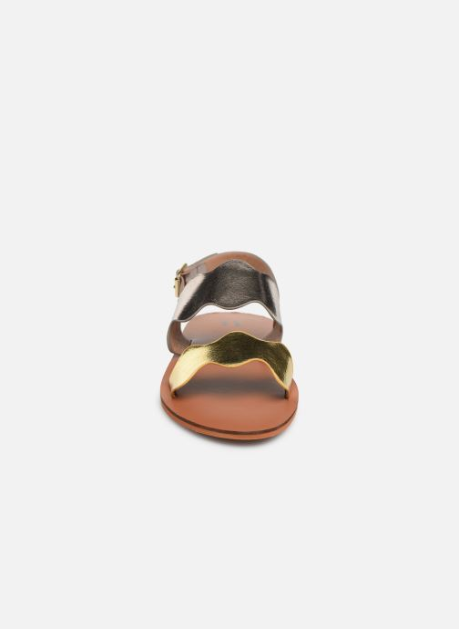Sandals Vanessa Wu SD1903 Bronze and Gold model view