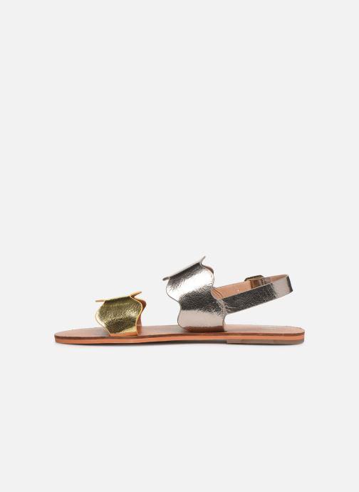 Sandales et nu-pieds Vanessa Wu SD1903 Or et bronze vue face