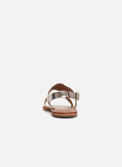 Sandales et nu-pieds Vanessa Wu SD1903 Or et bronze vue droite