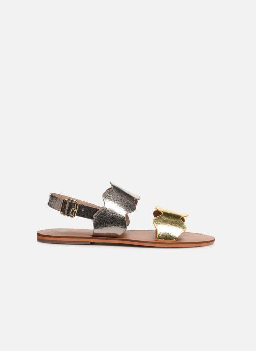 Sandales et nu-pieds Vanessa Wu SD1903 Or et bronze vue derrière