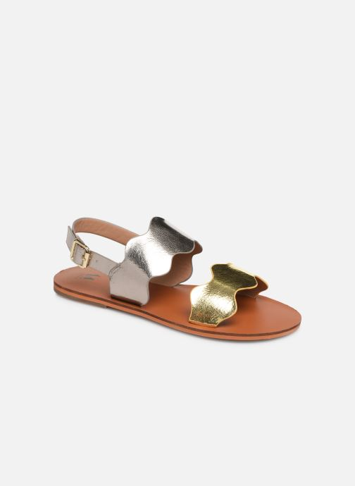 Sandals Vanessa Wu SD1903 Bronze and Gold detailed view/ Pair view