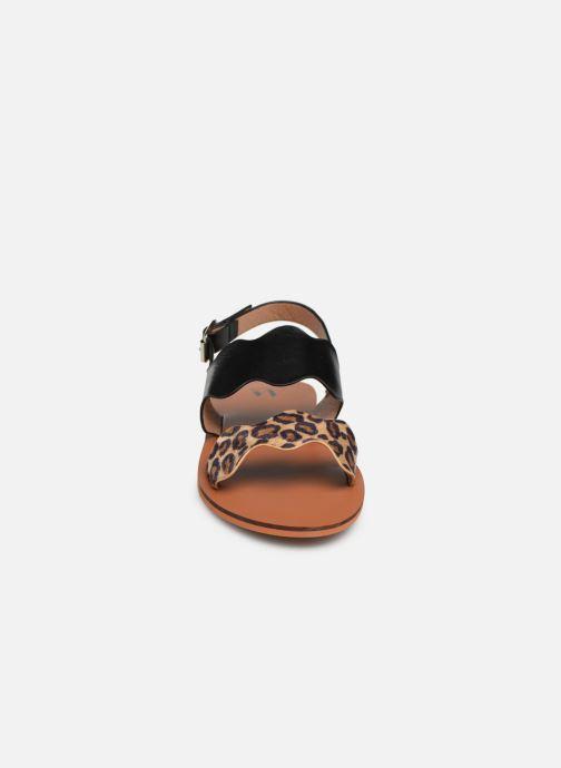 Sandales et nu-pieds Vanessa Wu SD1903 Noir vue portées chaussures