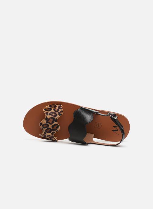 Sandales et nu-pieds Vanessa Wu SD1903 Noir vue gauche