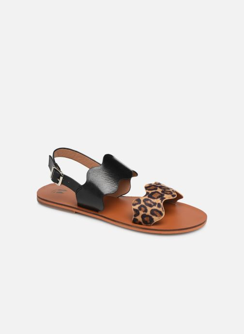 Sandals Vanessa Wu SD1903 Black detailed view/ Pair view