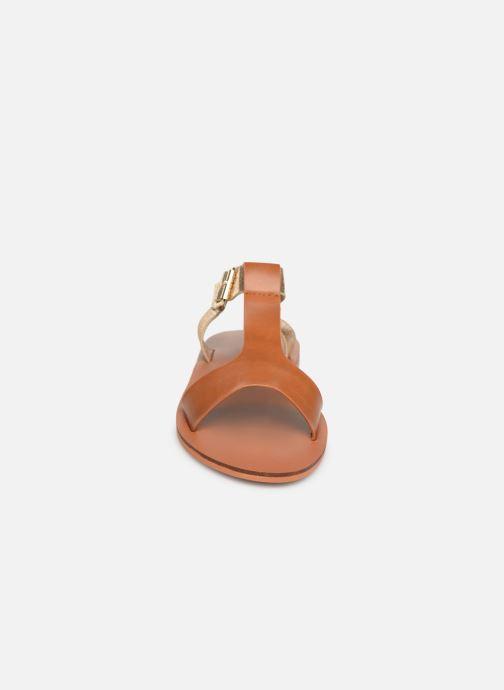 Sandales et nu-pieds Vanessa Wu SD1938 Marron vue portées chaussures