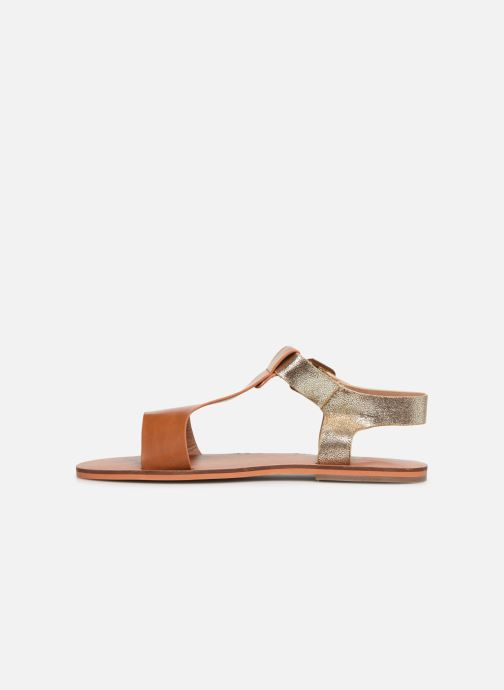 Sandals Vanessa Wu SD1938 Brown front view