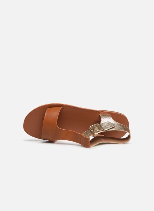 Sandales et nu-pieds Vanessa Wu SD1938 Marron vue gauche