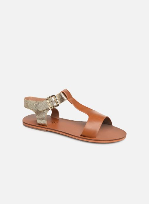 Sandals Vanessa Wu SD1938 Brown detailed view/ Pair view