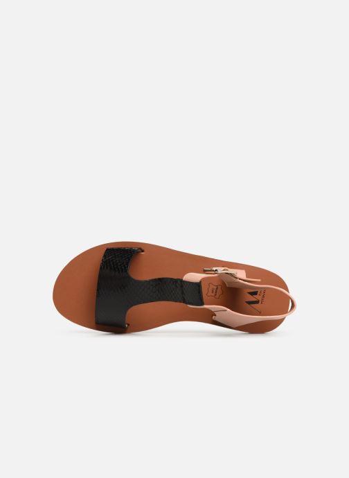 Sandales et nu-pieds Vanessa Wu SD1938 Noir vue gauche