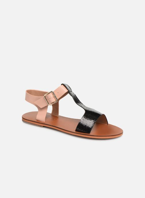 Sandals Vanessa Wu SD1938 Black detailed view/ Pair view