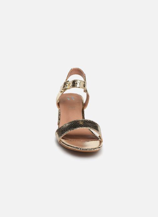 Sandales et nu-pieds Vanessa Wu SD1939 Or et bronze vue portées chaussures