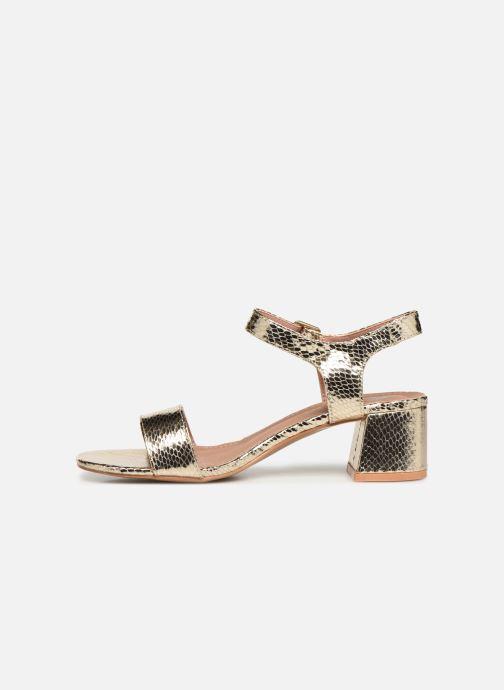 Sandales et nu-pieds Vanessa Wu SD1939 Or et bronze vue face