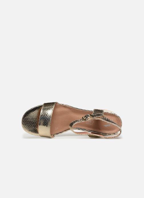 Sandales et nu-pieds Vanessa Wu SD1939 Or et bronze vue gauche