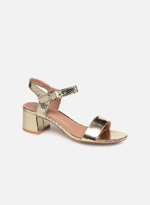 Sandales et nu-pieds Vanessa Wu SD1939 Or et bronze vue détail/paire