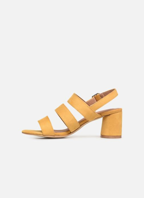 Sandals Vanessa Wu SD1948 Yellow front view