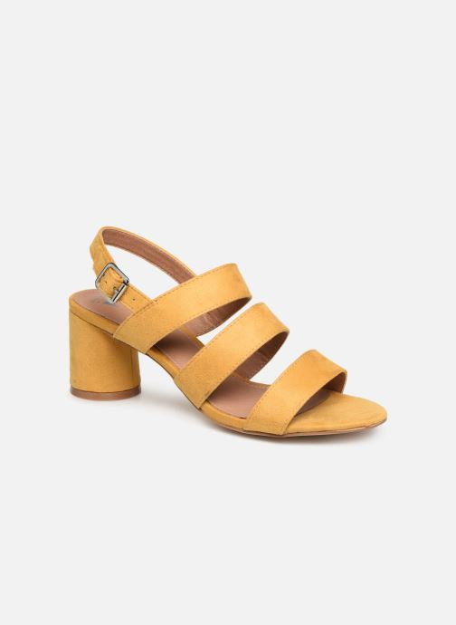 Sandals Vanessa Wu SD1948 Yellow detailed view/ Pair view