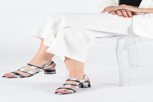 Sandals Vanessa Wu SD1948 Orange view from underneath / model view