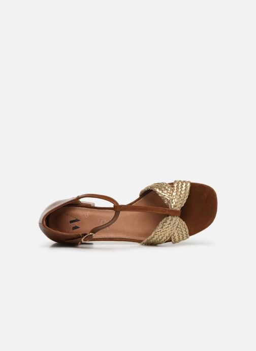 Sandales et nu-pieds Vanessa Wu SD1952 Marron vue gauche