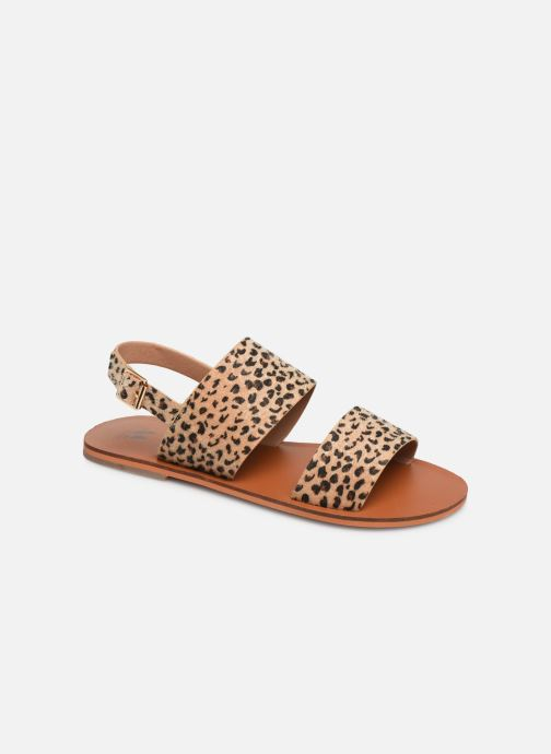 Sandals Vanessa Wu SD1955 Brown detailed view/ Pair view
