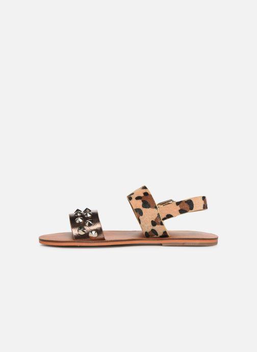 Sandales et nu-pieds Vanessa Wu SD1956 Or et bronze vue face