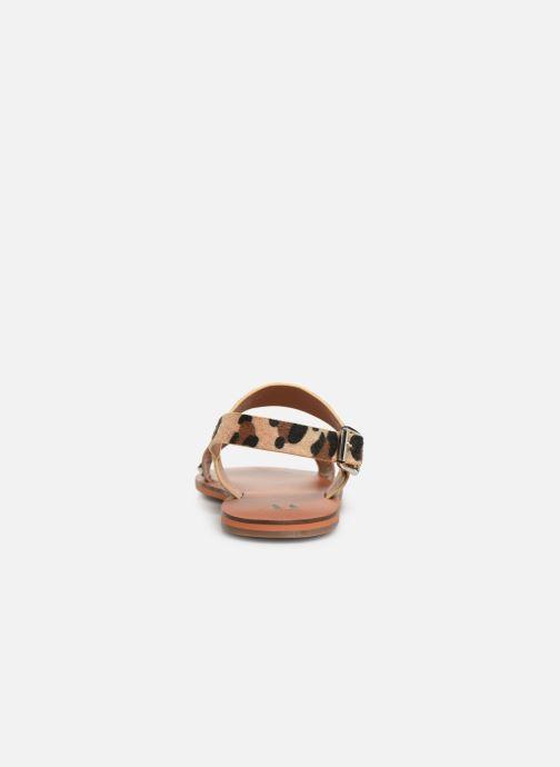Sandales et nu-pieds Vanessa Wu SD1956 Or et bronze vue droite