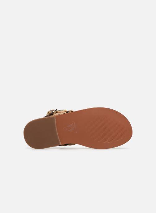 Sandales et nu-pieds Vanessa Wu SD1956 Or et bronze vue haut