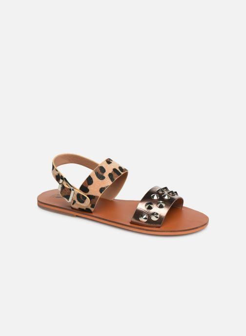 Sandales et nu-pieds Vanessa Wu SD1956 Or et bronze vue détail/paire