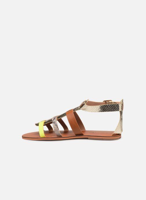 Sandales et nu-pieds Vanessa Wu SD1957 Or et bronze vue face