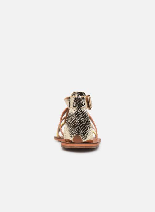 Sandales et nu-pieds Vanessa Wu SD1957 Or et bronze vue droite