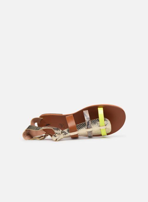 Sandales et nu-pieds Vanessa Wu SD1957 Or et bronze vue gauche