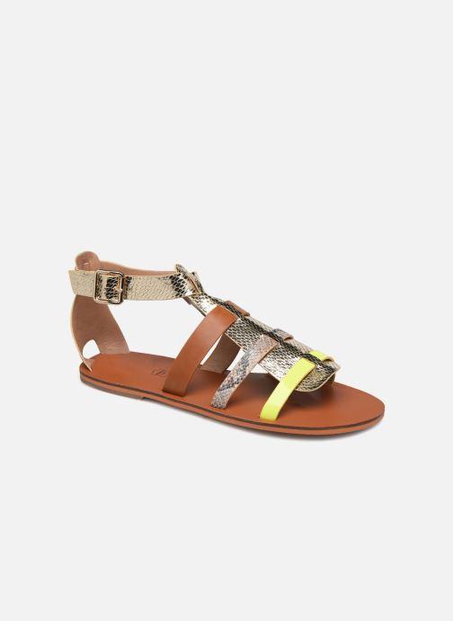 Sandales et nu-pieds Vanessa Wu SD1957 Or et bronze vue détail/paire