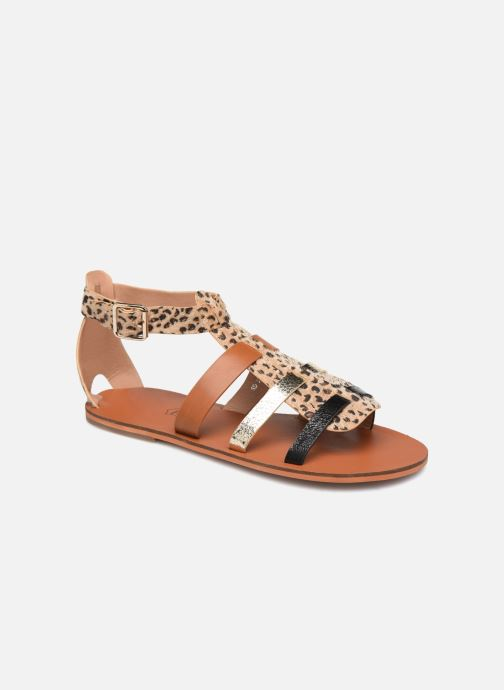 Sandals Vanessa Wu SD1957 Brown detailed view/ Pair view