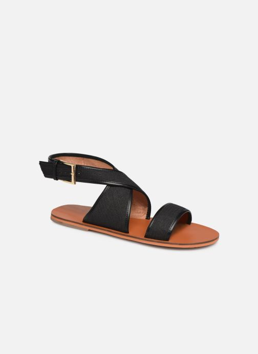 Sandals Vanessa Wu SD1958 Black detailed view/ Pair view