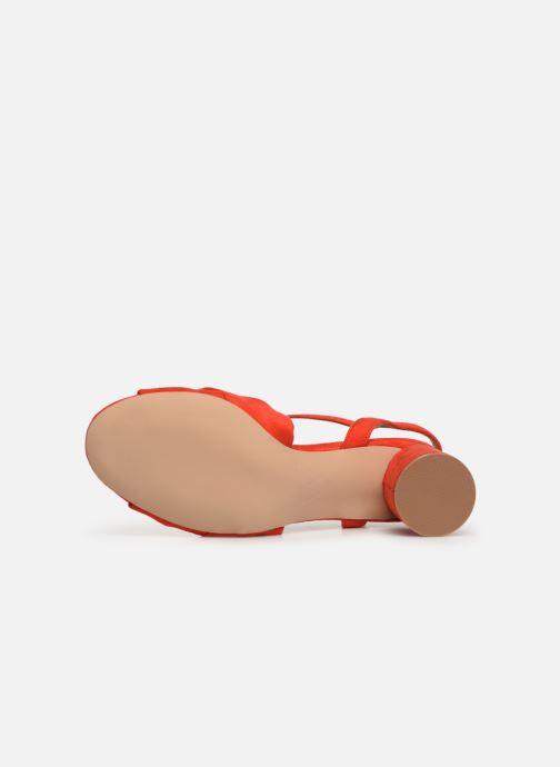 Sandales et nu-pieds Vanessa Wu SD1969 Orange vue haut