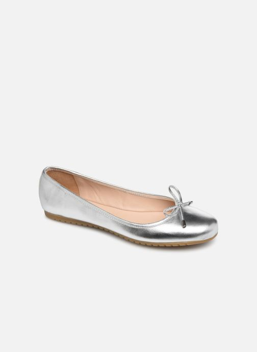 Ballet pumps Georgia Rose Selenova soft Silver detailed view/ Pair view