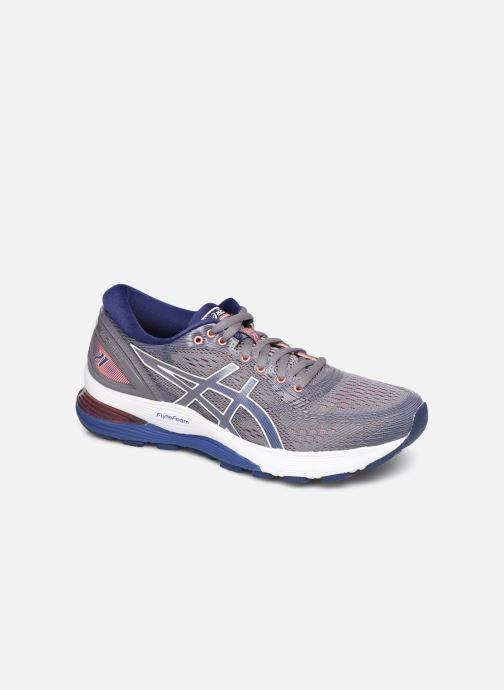 Sport shoes Asics Gel-Nimbus 21 Purple detailed view/ Pair view