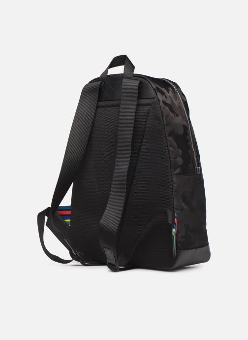 Sacs à dos PS Paul Smith BACKPACK CAMO Noir vue droite
