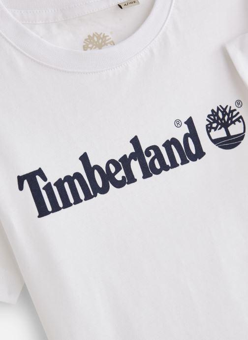 Vêtements Timberland T25P12 Blanc vue portées chaussures