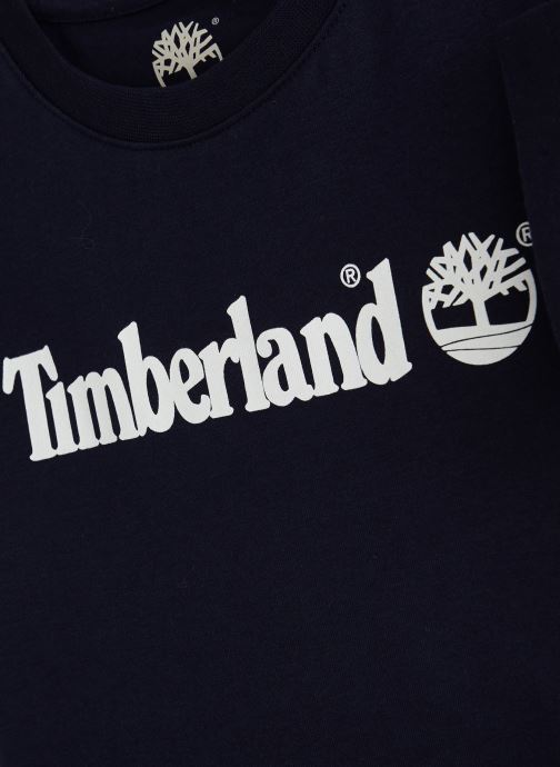 Vêtements Timberland T25P12 Bleu vue portées chaussures