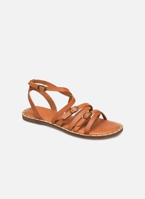 Sandales et nu-pieds P-L-D-M By Palladium Virgule Marron vue détail/paire