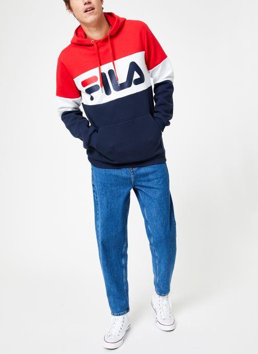 Vêtements FILA Night Blocked Hoodie Multicolore vue bas / vue portée sac